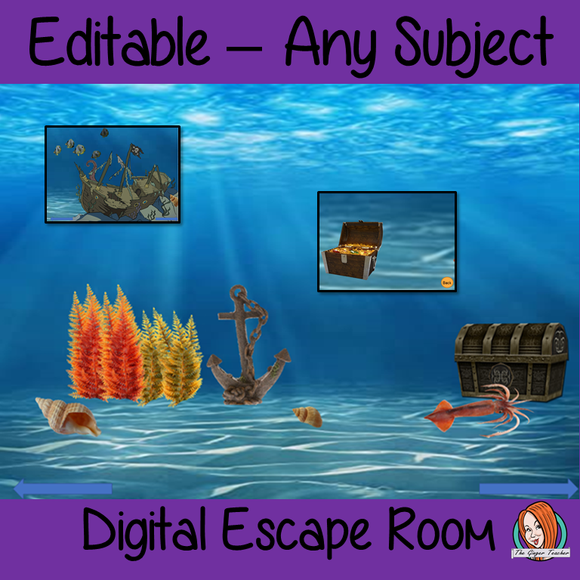 Editable Digital Escape Room