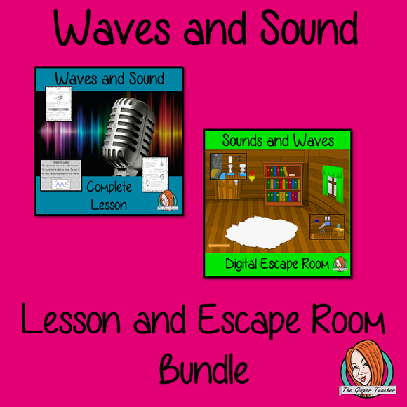 Waves and Sound Science Lesson and Escape Room Bundle