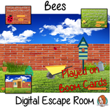 Bees escape Room Children can learn and practice bee facts with this fun digital escape room. Children will need to explore the garden world answer questions and collect information to solve the puzzles and eventually escape. No printing required This game uses Boom Cards and you will need a Boom card account to play it which is free