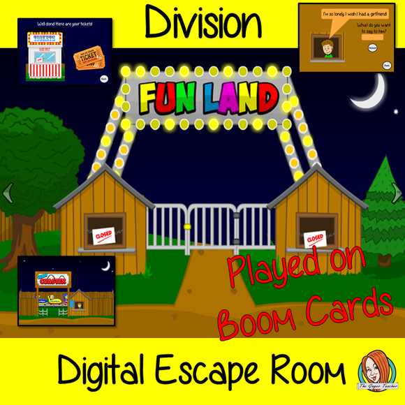 Dividing Escape Room Boom Cards