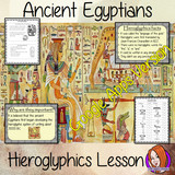 Distance Learning Ancient Egyptian Hieroglyphics Google Slides Lesson   Teach children about Ancient Egypt and Ancient Egyptian Hieroglyphics. This is a complete resources lesson to teach children about the use of Hieroglyphics in Ancient Egypt.  The children will learn what they were, why are they are important and look at the difference between our writing system and theirs. There is a detailed 22 slide presentation and four versions of the 6-page, Google Slides worksheet to allow children to show their u