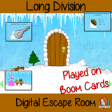 Long Division Escape Room Boom Cards