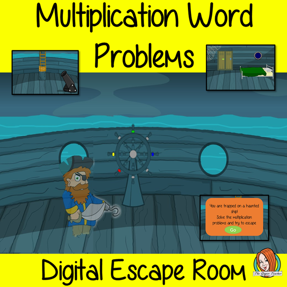Multiplication Word Problems Escape Room