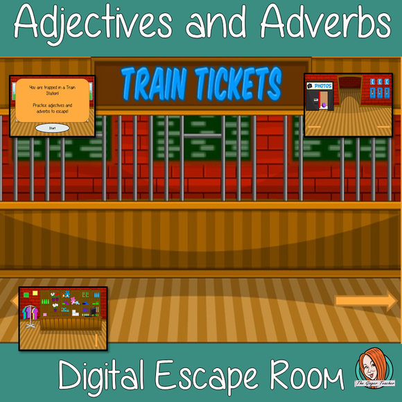 Adjectives and Adverbs Escape Room