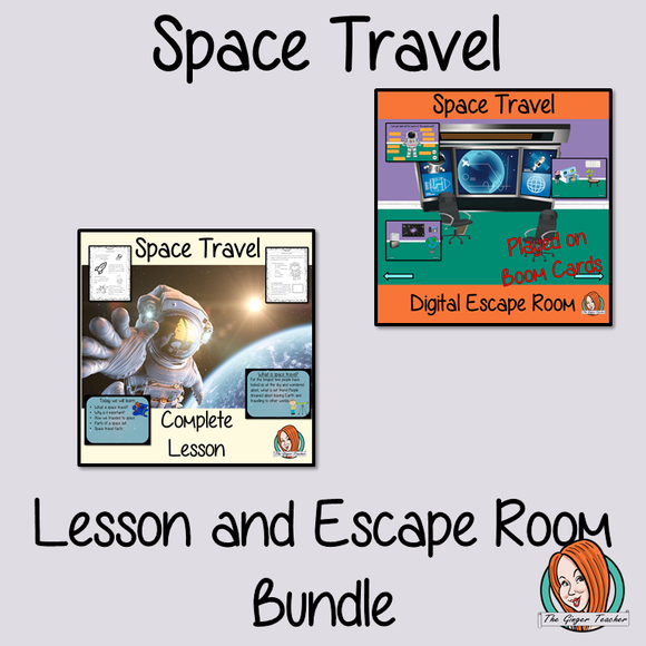 Space Travel Science Lesson and Escape Room Bundle