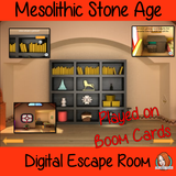 Mesolithic Stone Age Escape Room Boom Cards