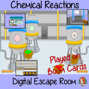 Chemical Reactions Science Escape Room Boom Cards