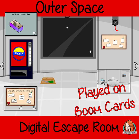 Outer Space Science Escape Room Boom Cards