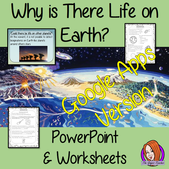 Distance Learning Why is There Life on Earth? Google Slides Lesson  These resources teach children about the start of life on Earth in one complete lesson. They will learn why the sun is important to life on Earth and why the moon and atmosphere are important to life on Earth  There is a detailed 29 slide presentation on life on Earth, the possibility of life on other planets and discusses if we could live on another planet. There are also differentiated, 7 page, Google slides worksheets to allow students t