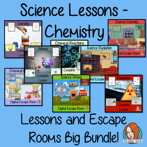 Chemistry Science Lessons and Escape Rooms Big Bundle