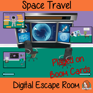 Space Travel Science Escape Room Boom Cards
