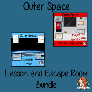 Outer Space Science Lesson and Escape Room Bundle