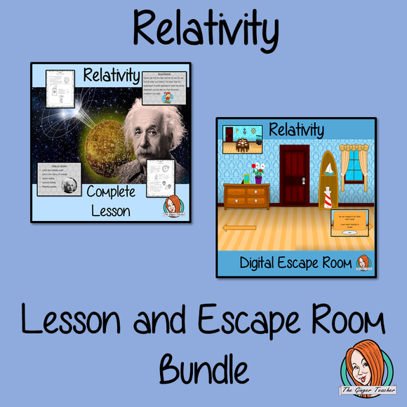 Relativity Science Lesson and Escape Room Bundle