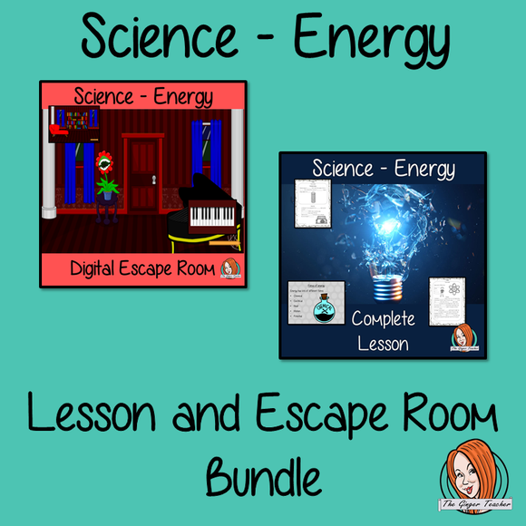 Energy Science Lesson and Escape Room Bundle