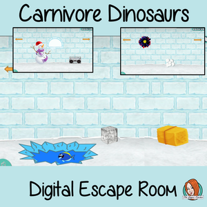 Carnivore Dinosaurs Digital Escape Room