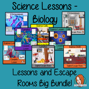 Biology Science Lessons and Escape Rooms Big Bundle