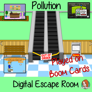 Pollution Escape Room Boom Cards