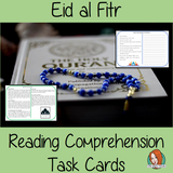 Eid al Fitr Reading Comprehension Cards Differentiated reading comprehension cards. Three levels of texts and questions to help children with reading comprehension. This text is on Eid al Fitr and has questions to help children understand and draw meaning from the text.