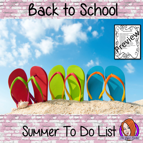 Back to School Complete Summer To-Do List