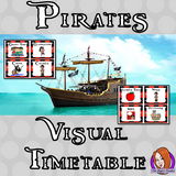 Pirate Classroom Visual Timetable  This download includes a fun pirate themed classroom visual timetable. These are great for teachers and kids to have a pirate room and to support young or SEND children with changes.  This download includes: - Timetable banner - Instructions - 76 visual timetable cards #classroomthemes #teachingideas #pirateclassroom