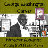 George Washington Carver Interactive Quote Poster Augmented Reality (AR) interactive quote poster This poster can be printed and used in your classroom access the augmented reality aspects of this poster with the free Metaverse app. George Washington Carver will appear in your classroom to give your kids extra facts and a short task. Included are two posters one color and one black and white with AR codes for interactive content #blackhistorymonth #blackhistory #georgewashingtoncarver