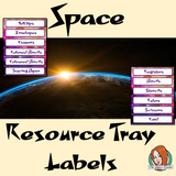 Outer Space Themed Resource Tray Labels  This download includes 88 fun space tray labels for your classroom as well as editable versions. These are great to complete your outer space themed room.   This download includes: - 88 tray labels - Editable versions #classroomthemes #teachingideas #spaceclassroom