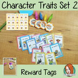 Character Traits Set 2 Reward Tags Give you class something to brag about! These reward tags can be printed and used in your classroom for behaviour management. If you want to promote good behavior of students brag tags are the way to go! Reward tags are perfect for behaviour management in primary school As well as the tags there is also a brag tags parent letter included. This is a whole class behaviour management system which promotes good behaviour in class #bragtags #rewardtag #awardtags