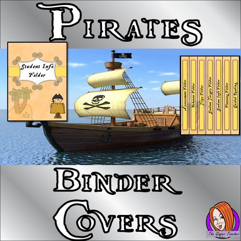 Pirate Themed Folder / Binder Covers  This download includes fun pirate themed binder covers for your classroom folders. These are great for teachers and kids to have a pirate room and keep everything organised This download includes: - 13 different folder covers and spines - Editable cover and spine #classroomthemes #teachingideas #pirateclassroom
