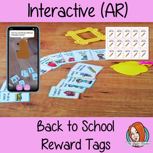 Interactive Classroom Back to School Reward Tags (brag tags) Give you class something to brag about! These reward tags can be printed and used in your classroom download the free Metaverse AR (augmented reality) app Scan the code and a fun character will appear in your classroom to congratulate the kids! Each tag has AR reward that the children collect also the option to take a reward selfie. #ar #augmentedreality #bragtags #rewardtag #awardtags