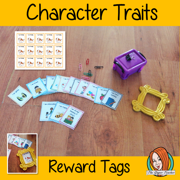 Character Traits Reward Tags Give you class something to brag about! These reward tags can be printed and used in your classroom for behaviour management. This download includes 15 reward tags: I am brave I am kind I am friendly I am nice  I am hard working I am happy I am loyal I am tidy I am honest  I am giving I always think of others I am pleasant I am interesting I am careful I am dedicated #bragtags #rewardtag #awardtags #backtoschool