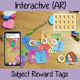 Interactive subject Reward Tags brag tags! These tags can be used in your classroom for behaviour management. If you want to promote good behavior of students brag tags! This is a whole class behaviour management system promotes good behaviour in class download the free AR (augmented reality) app and a fun character will appear in your classroom! Each tag has AR reward that collect also option to take reward selfie. #augmentedreality #bragtags #rewardtag #awardtags
