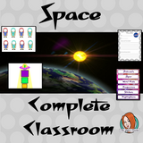 Complete Outer Space Themed Classroom Bundle This download includes more than 140 printables for a fun space themed classroom. These are great for kids and teachers. This download includes: - Banners - Labels - Timetables - Calendars - Lanyards - Lettering - Signs  - And much more!  #backtoschool #classroomthemes #teachingideas #Outerspaceclassroom