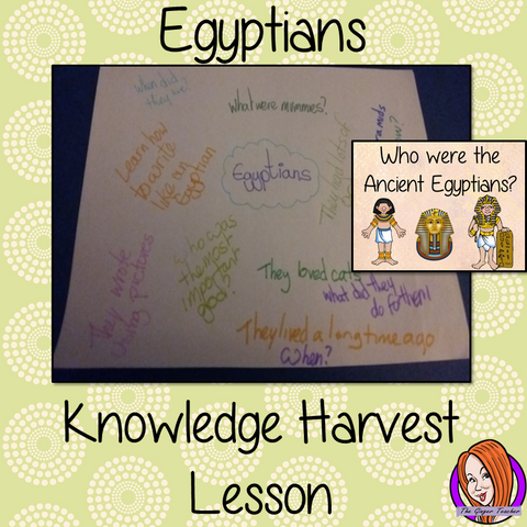 Ancient Egyptians   -  Knowledge Harvest Lesson  This download is a complete lesson on introducing the Ancient Egyptians with a knowledge harvest.  It is the perfect lesson to start a topic on Ancient Egyptians. Included: Full lesson plan, Example knowledge harvest, Big Question #lessonplanning #ancientegyptians #egyptians #teachingresources #teaching #resources #historylessons #historyplanning