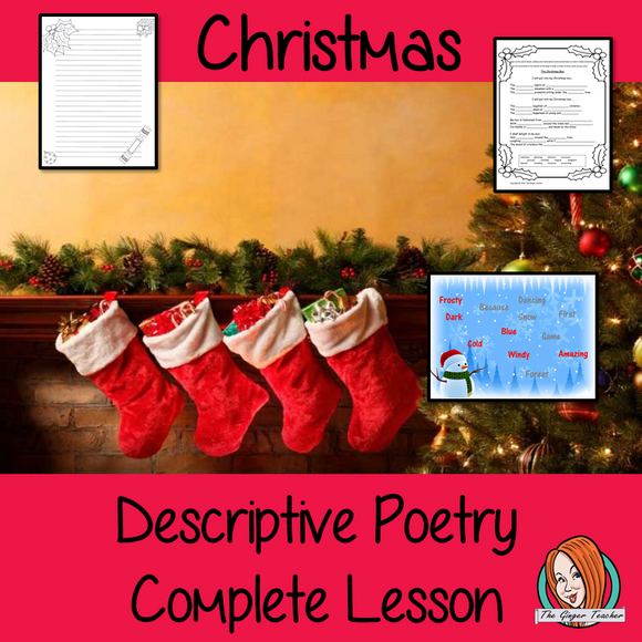 Christmas Descriptive Poems Complete Poetry Lesson for English
