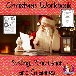 Christmas Spelling, Punctuation and Grammar Workbook This fun 10 page workbook has fun exercises for children to practice their spelling and grammar skills. There are exercises for kids to complete which look at plurals, tenses, sentences, punctuation, spelling and identifying nouns, verbs and adjectives. #Christmas #classroom #spag #planning #lessons #festive #learning #spelling #resources #teaching #lessonplans #holidays #holidayseason #punctuation #grammar