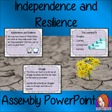 Resilience and Independence Assembly PowerPoint  This download includes a fun and interesting 21 slide PowerPoint presentation for your assembly. This assembly teaches children to think about growth mind set, encourages them to use the learning pit and helps kids to use their struggles to improve.  #assembly #backtoschool #courage #learning