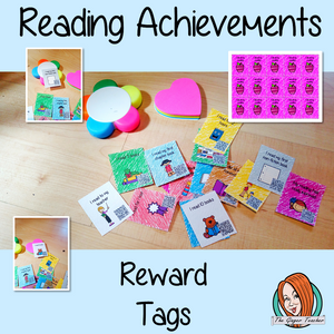 Reading Achievements Reward Tags Give you class something to brag about! These reward tags can be printed and used in your classroom for behaviour management. Children love to collect them all so they are a perfect behavior management system I read every night I read for 1 I have read 10 books I did all my homework I read my first chapter book I moved up a reading level I am a reading champion I read to my teacher My reading has really improved #bragtags #rewardtag #awardtags