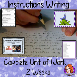 Instruction Writing - English - Complete Unit of Work
