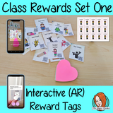 Classroom Awards  interactive ar Reward Tags set One Brag tags Give you class something to brag about! These reward tags can be printed and used in your classroom for behaviour management. Children love to collect them all so they are a perfect behavior management system  , although there is more to these tags than meets the eye! Scan the code and a fun character will appear in your classroom to congratulate the kids  #bragtags #rewardtag #awardtags