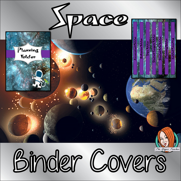 Space Classroom Themed Folder / Binder Covers  This download includes fun space themed binder covers for your classroom folders. These are great for teachers and kids to have a space themed classroom and keep everything organised This download includes: - 13 different folder covers and spines - Editable cover and spine #classroomthemes #teachingideas #spaceclassroom
