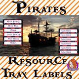 Pirate Themed Resource Tray Labels This download includes 88 fun pirate tray labels for your classroom as well as editable versions. These are great to complete your pirate themed room.  This download includes: - 88 tray labels - Editable versions - Full instructions #classroomthemes #teachingideas #pirateclassroom