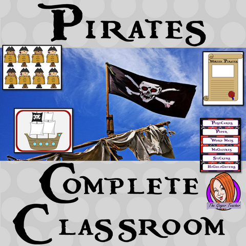 Complete Pirate Themed Classroom Bundle  This download includes more than 140 printables for a fun pirate themed classroom. These are great for kids and teachers.  This download includes: - Banners - Labels - Timetables - Calendars - Lanyards - Lettering - Signs  - And much more!  #backtoschool #classroomthemes #teachingideas #pirateclassroom