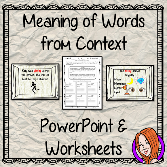 Understanding Meaning from Context   -  PowerPoint and Worksheets