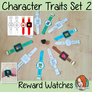 Character Traits Reward Watches set 2 Give you class something to brag about!  These reward watches can be printed and used in your classroom to encourage good character traits. They are great to give out to the children to create a fun classroom environment. There are 4 different designs of each watch, 2 round faces and 2 square, smart-watch designs. This download includes 15 different reward watches #bragtags #rewardtag #awardtags #backtoschool