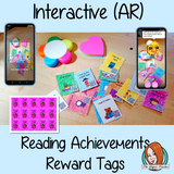 Reading Achievements Interactive Reward Tags (brag tags) Give you class something to brag about! These reward tags can be printed and used in your classroom for rewarding reading achievements in your class. Children love to collect them all so they are a perfect behavior management system, although there is more to these tags than meets the eye! Scan the code and a fun character will appear in your classroom to congratulate the kids #bragtags #rewardtag #awardtags