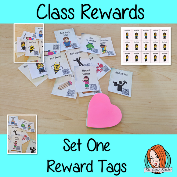 Classroom Awards Reward Tags Set One