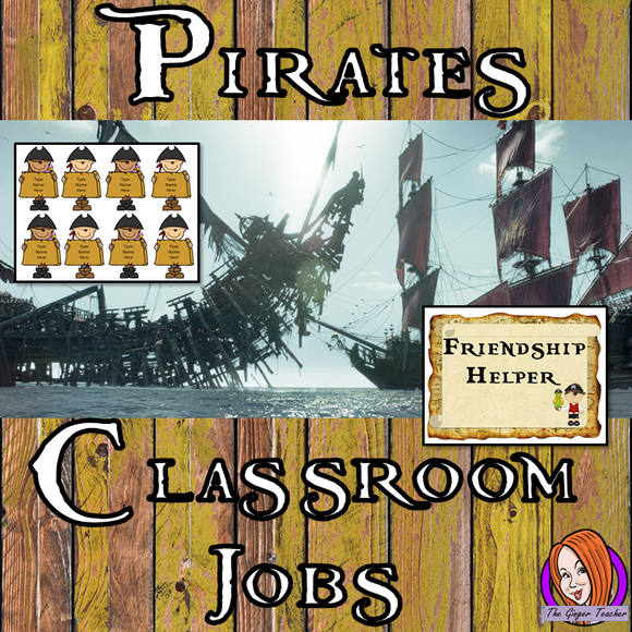 Pirate Classroom Jobs Display  This download includes a fun pirate themed classroom jobs display for your classroom. These are great for teachers and kids to have a pirate room and give children responsibility in their classrooms.  This download includes: - Jobs display banner - Editable pirate names  - Instructions for all  - 18 classroom job posters #classroomthemes #teachingideas #pirateclassroom