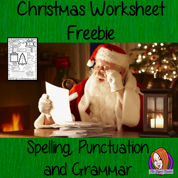 Christmas Spelling, Punctuation and Grammar Worksheet This fun free worksheet has fun exercises for children to practice their spelling and grammar skills. There are exercises for kids to complete which look at plurals, tenses, sentences, punctuation, spelling and identifying nouns, verbs and adjectives. #Christmas #classroom #spag #planning #lessons #festive #learning #spelling #resources #teaching #lessonplans #holidays #holidayseason #punctuation #grammar #freebie