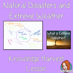 Freebie Natural Disasters and Extreme Weather Knowledge Harvest Lesson   This download is a complete lesson on introducing natural disasters with a knowledge harvest.  It is the perfect lesson to start a topic on extreme weather. Included: * Full lesson plan * Example knowledge harvest * Big Question #lessonplanning #teachingresources #teaching #resources #sciencelesson