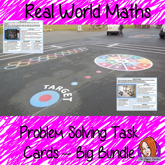 Real World Maths Task Cards Big Bundle